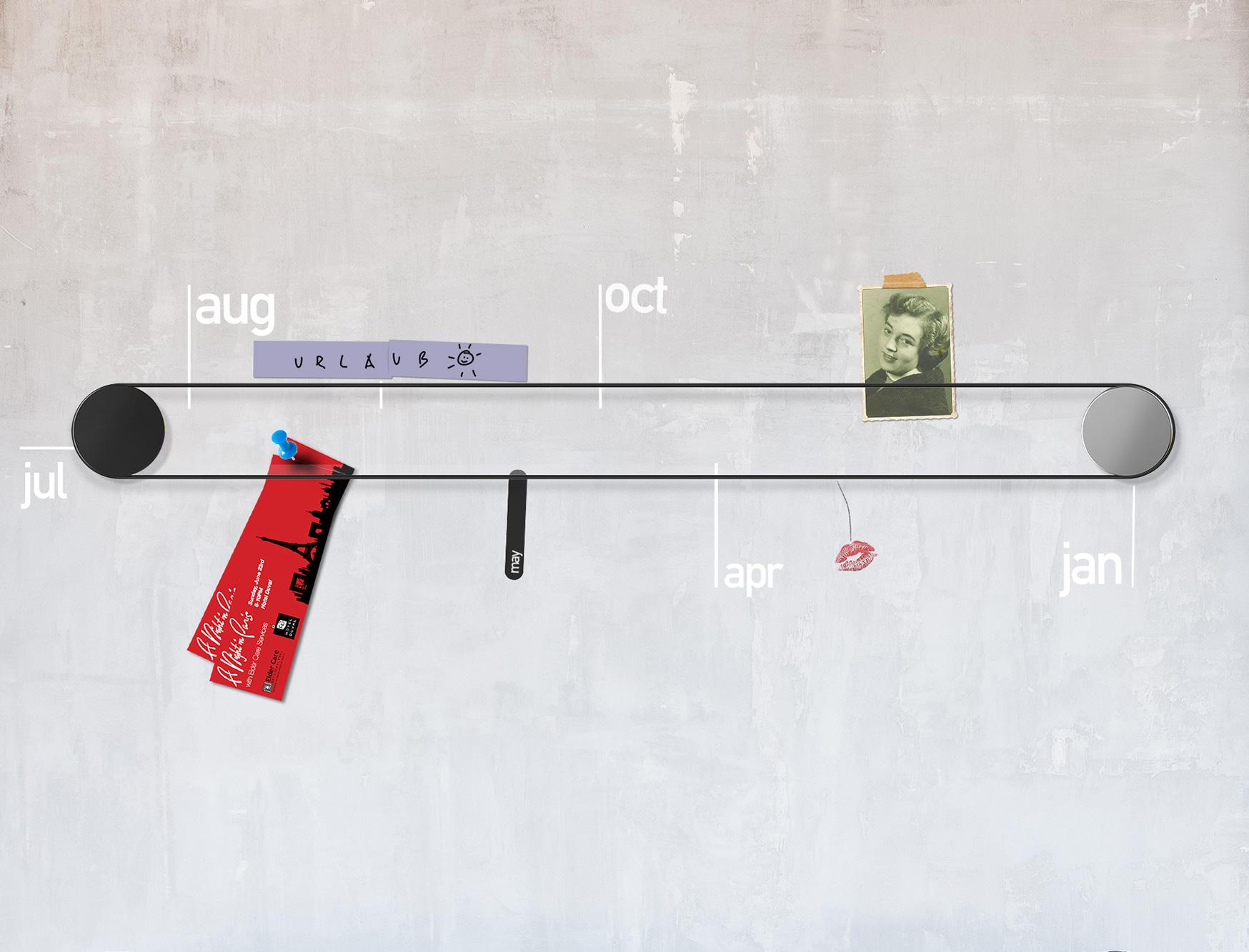 Die LIFEoCLOCK gibt Ihnen als Kalender die Möglichkeit, Ihre persönlichen  Highlights im Jahr zu markieren.